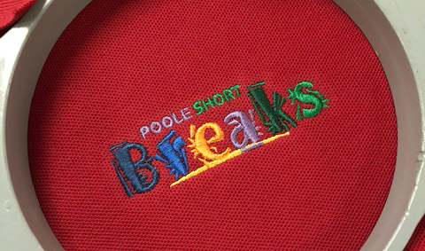 Poole Short Breaks embroidery