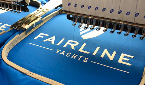 Fairline Yachts embroidery