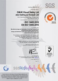 CMUK Koolpak ISO13485