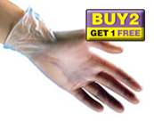 Disposable and protective Vinyl gloves