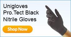 Bodyguards Black Nitrile Gloves