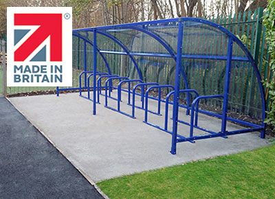 NBB Made In Britain cycle shelter