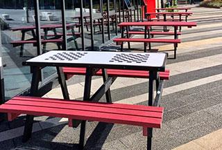 UWE Bristol campus picnic benches