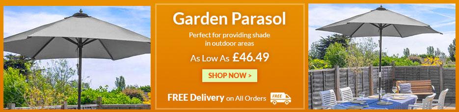 Wooden Garden Parasol